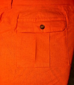 Back flap pocket and dart